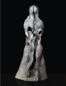Pielgrzym II / Pilgrim II 1981, drewno polichromowane / polychrome wood, 110×50×60 cm