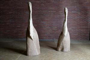 W stronę Modiglianiego I / Towards Modigliani I, 2004, drewno / wood, 194×62×40 cm
