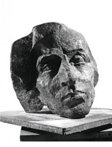 Fryderyk Chopin 1974, gips / plaster, 50×50×50 cm