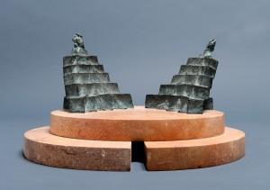 Nostalgia 2004, brąz, marmur / bronze, marble, 20×35×35 cm