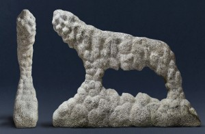 Pies III / Dog III  z cyklu ?Cienie? / from the series Shadows, 2012, granit / granite, 105×130×30 cm