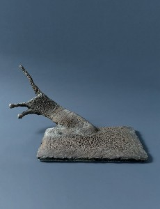 Kot I / Cat I z cyklu ?Cienie? / from the series Shadows, 2008, brąz / bronze, 30×45×40 cm