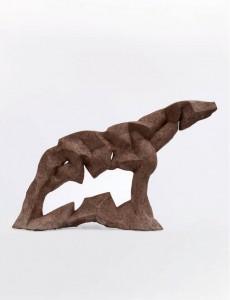 Koń IX / Horse IX z cyklu ?Cienie? / from the series Shadows, 2013, sztuczny kamień / synthetic stone, 37×52×15 cm