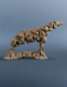 Koń VIII / Horse VIII z cyklu ?Cienie? / from the series Shadows, 2013, sztuczny kamień / synthetic stone, 37×52×15 cm