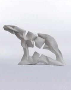 Koń X / Horse X z cyklu ?Cienie? / from the series Shadows, 2014, sztuczny kamień / synthetic stone, 37×52×15 cm